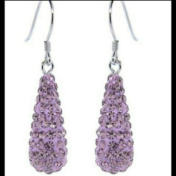 Jewelry - Swarovski themed rhinestone dangle earrings